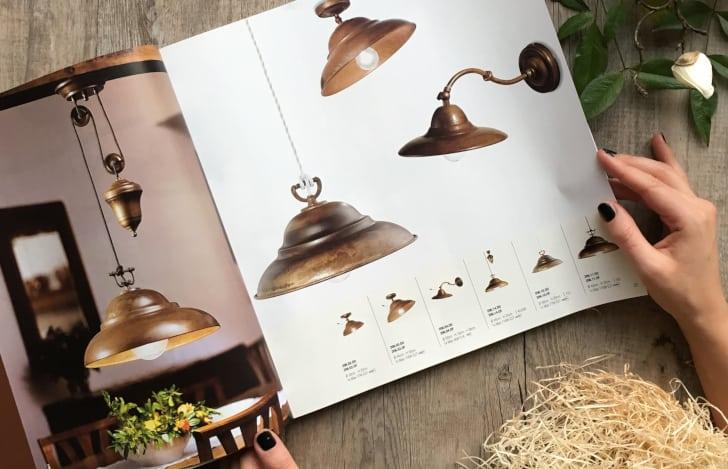Stampa catalogo per lampadari