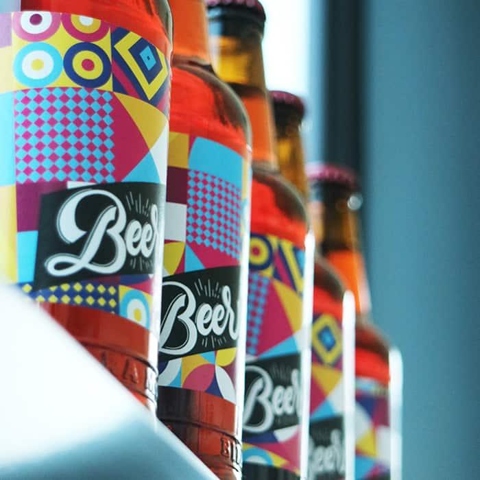 Etichette adesive per birra